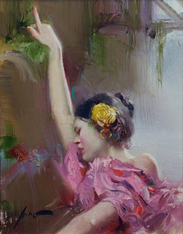 Pino daeni Yellow Rose of Madrid reproductions of paintings