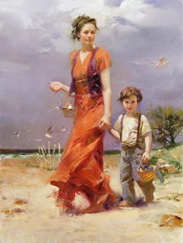 Pino daeni A Day At The Beach reproductions of paintings