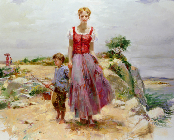 Pino daeni paintings Cliffside Retreat reproductions on canvas