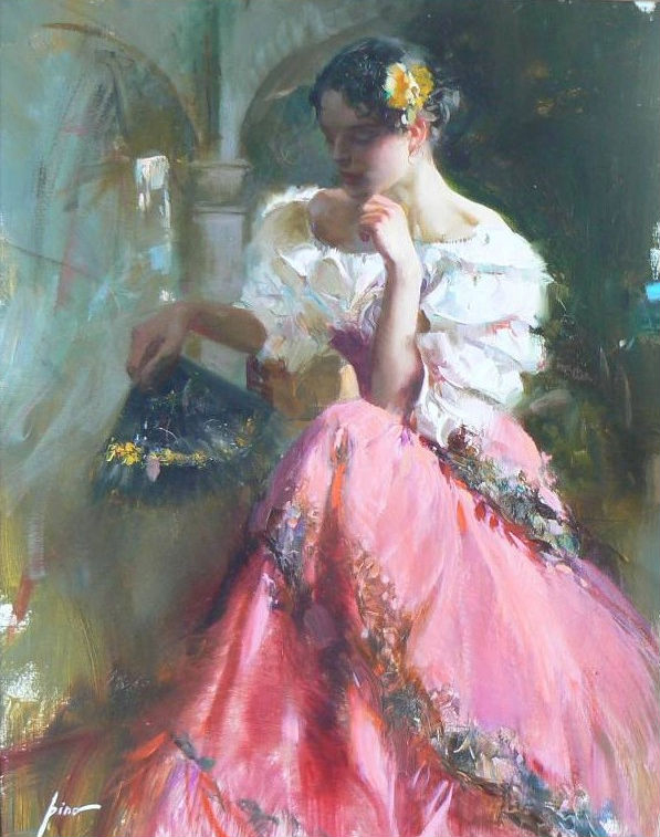 Pino daeni paintings Flower of Spain reproductions of paintings