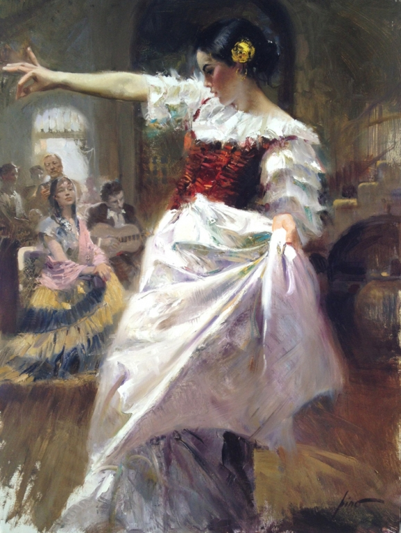 Pino daeni paintings The Dancer reproduction paintings on canvas