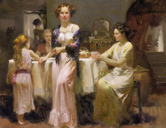 Pino daeni paintings The Gathering reproduction of paintings