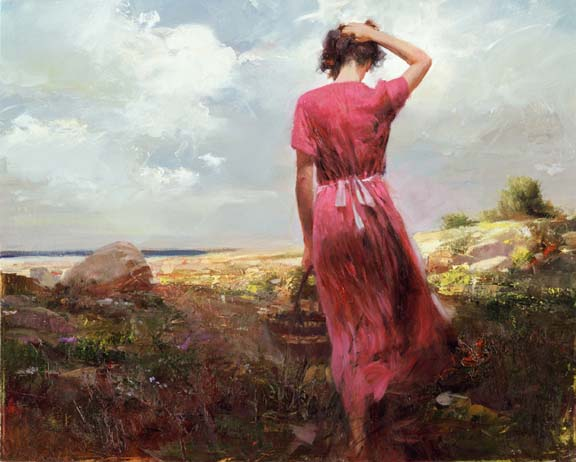 Pino daeni paintings Windy Day reproductions paintings on canvas
