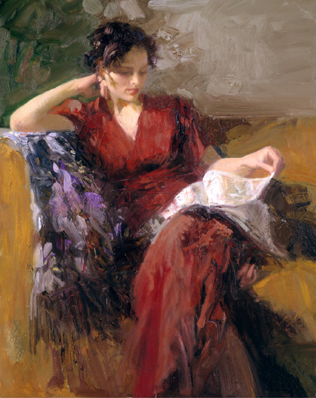 Pino daeni paintings Resting Time reproduction of paintings