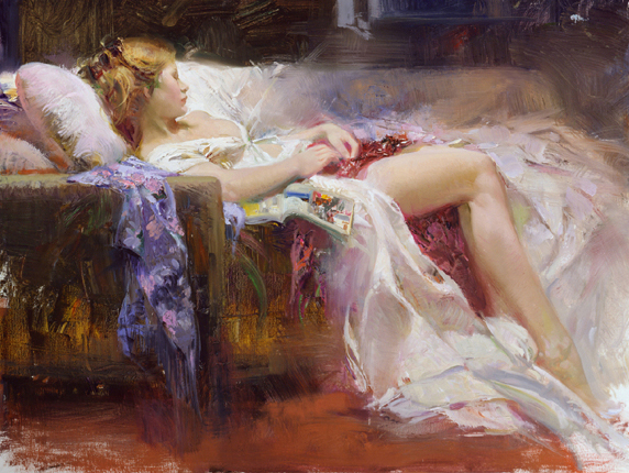 Pino daeni paintings Sweet Repose reproductions on canvas