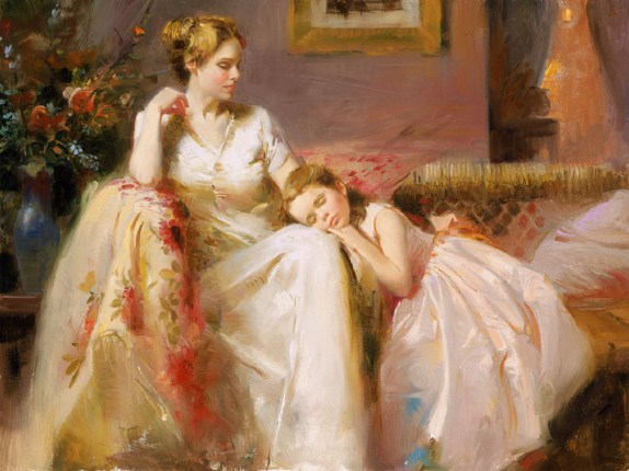 Pino daeni Touch of Warmth reproductions of paintings