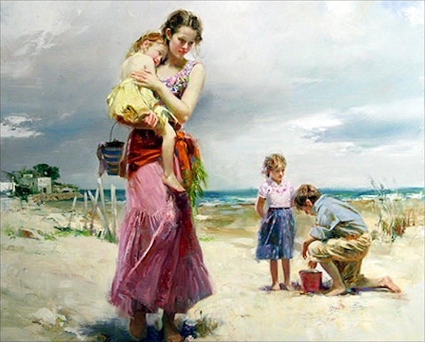 Pino Daeni paintings the beach Reproductions of paintings