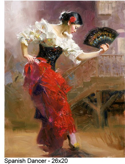 Pino Daeni paintings spanish dancer Reproductions on canvas
