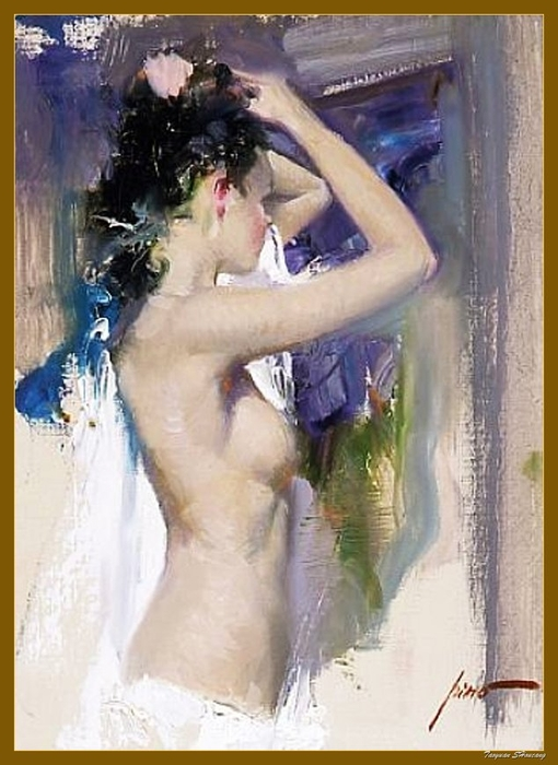 Reproductions of Pino Daeni paintiings artwork