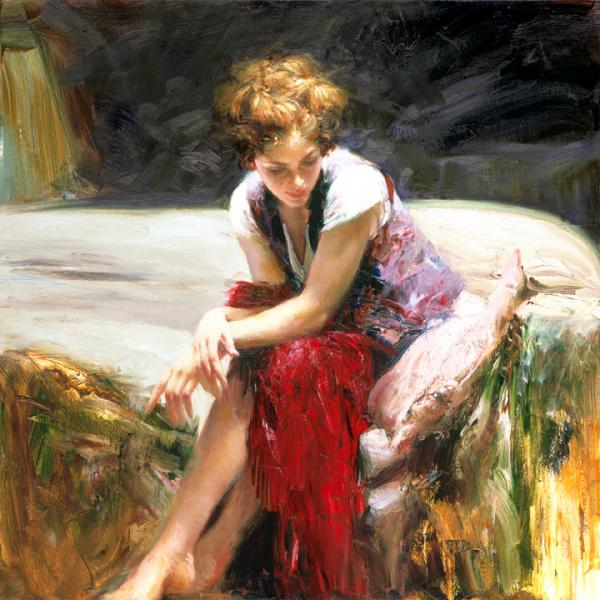 Pino Daeni Wispering heart reproductions oil paintings on canvas
