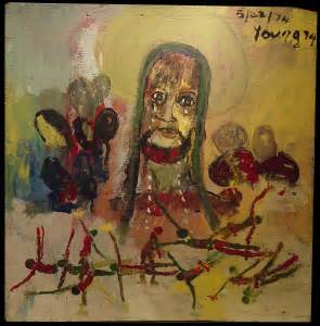 Reproduction of Purvis Young's Painting Art, Black Jesus
