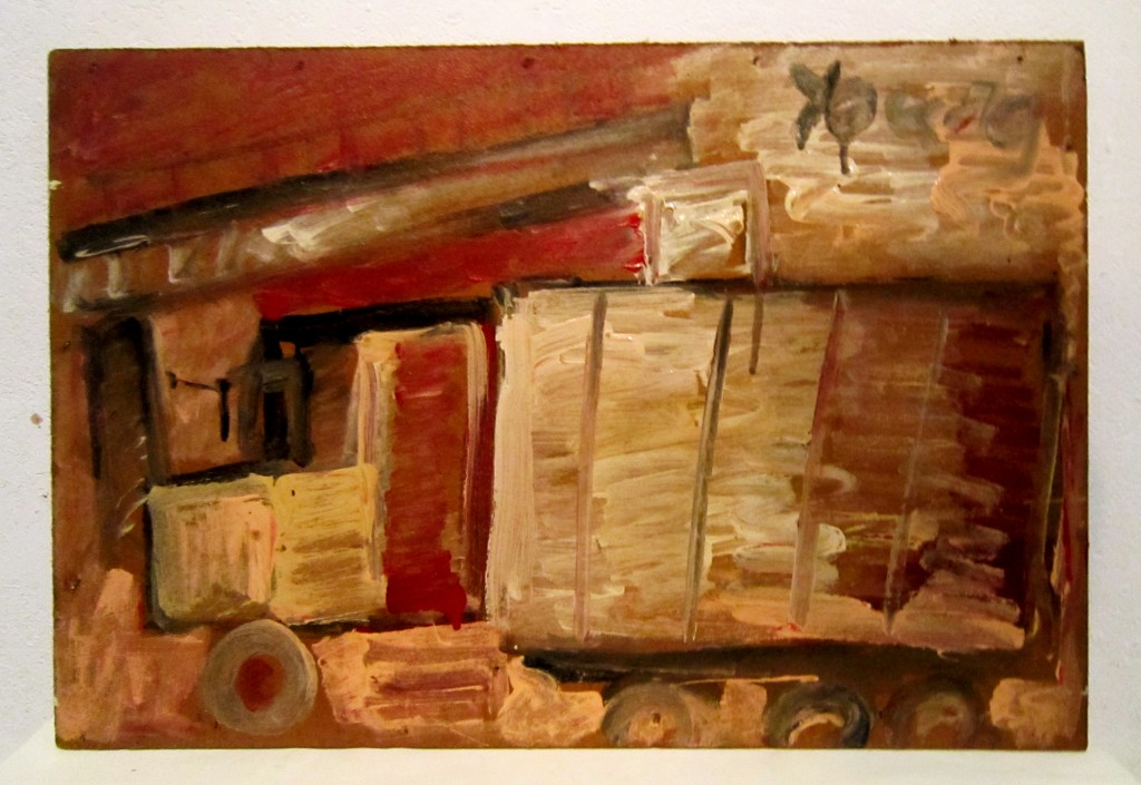 Reproduction of Purvis Young Painting Artwork, Unload It Man