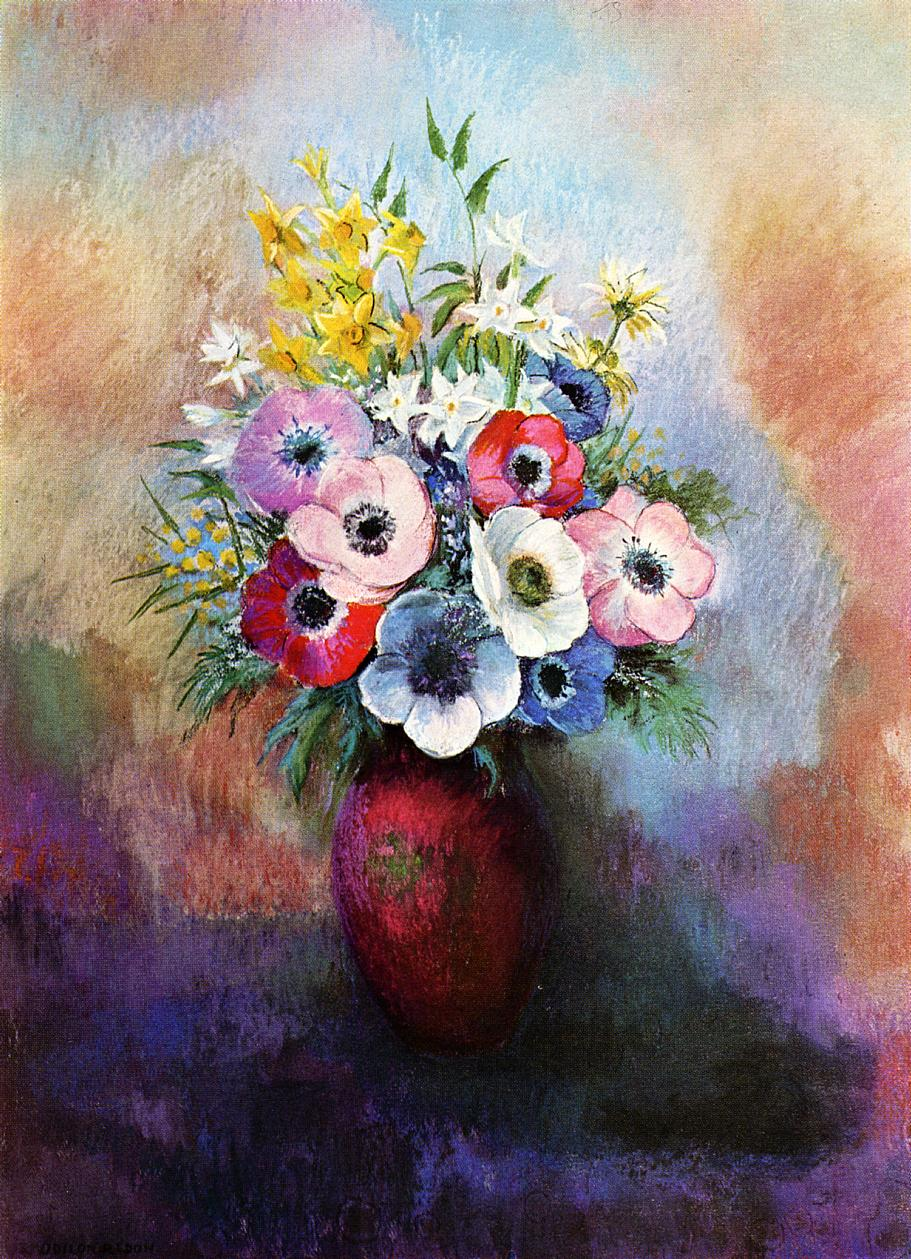 Reproductions of Odilon Redon's art Anemones