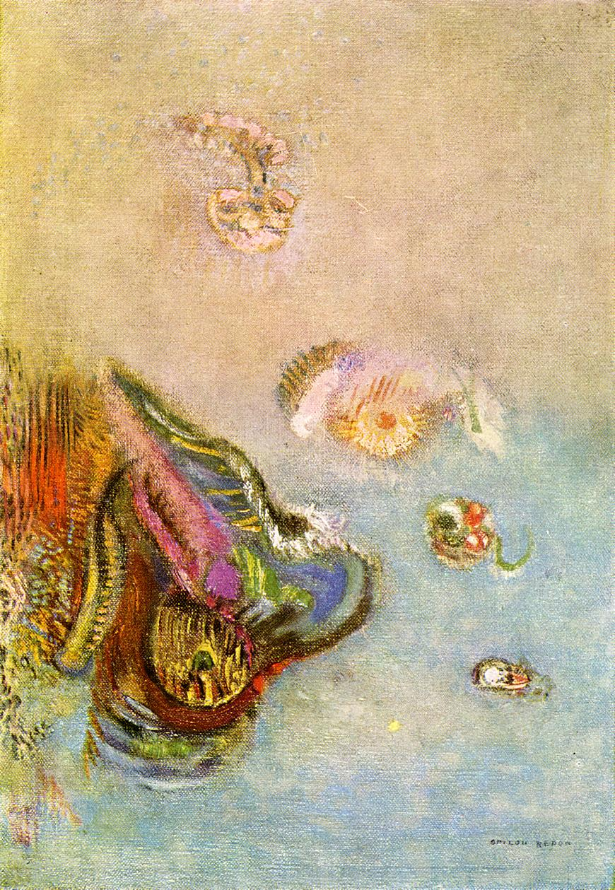 Reproductions of Odilon Redon's art Animals of the Sea