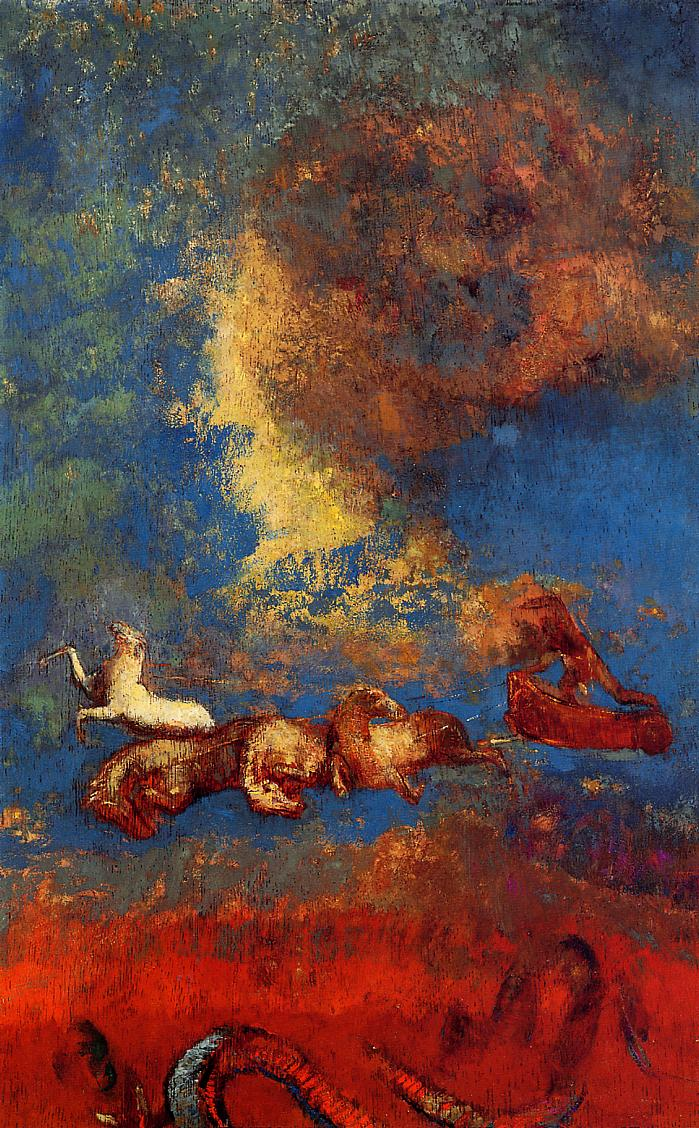 Reproductions of Odilon Redon's art Apollo's Chariot