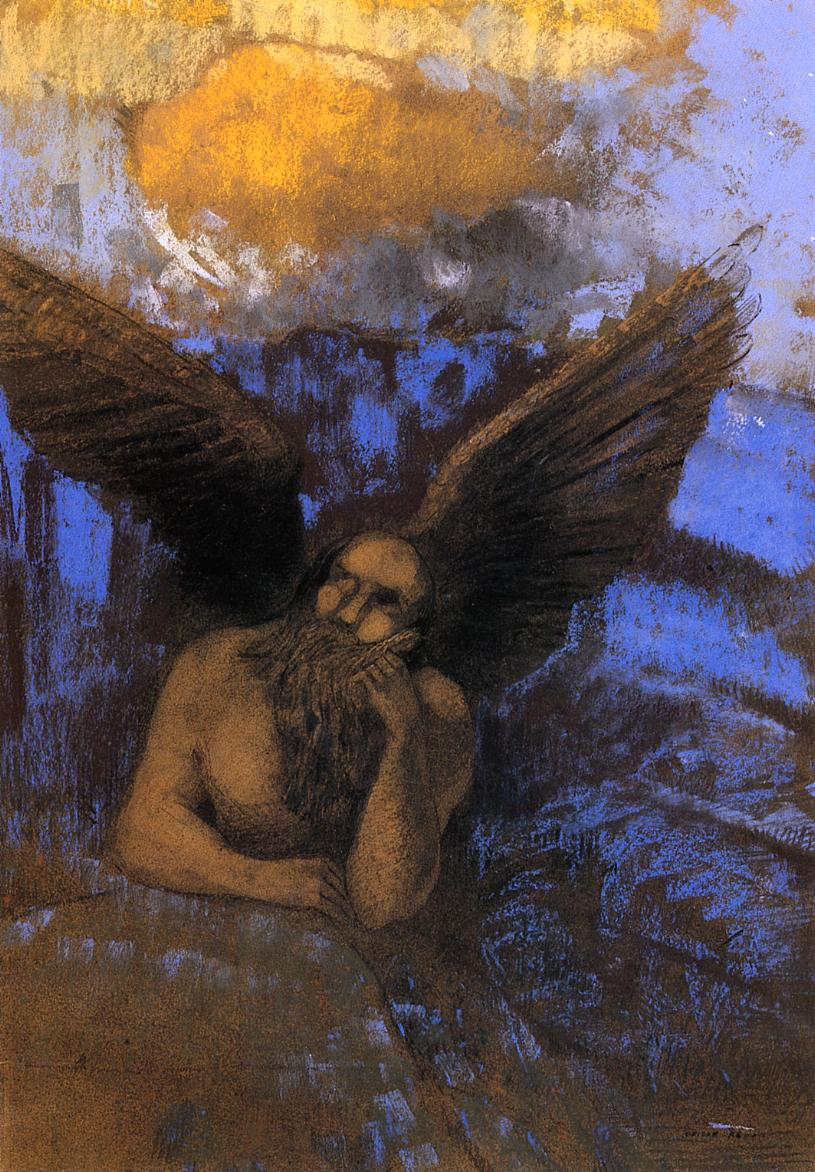 Reproductions of Odilon Redon's art, Aged Angel