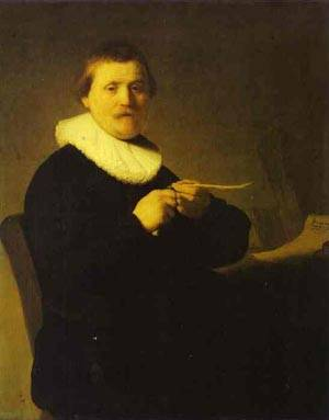 Reproduction of A Man Sharpening A Quill 1632