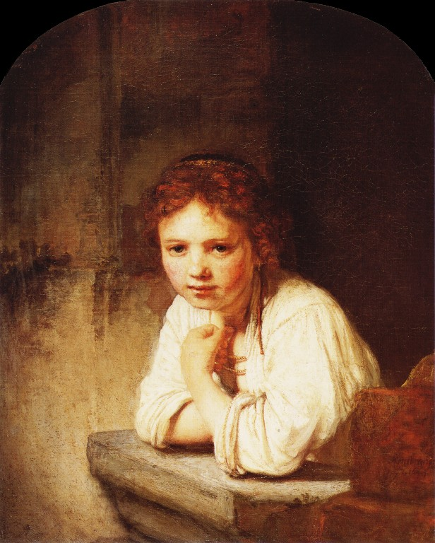 Reproduction of A Girl at a Window