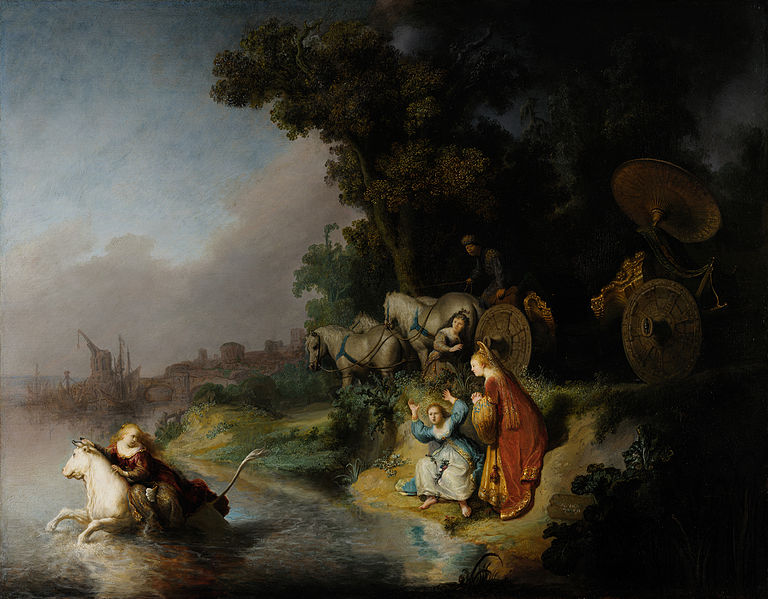Reproduction of Rembrandt Painting The Abduction of Europa