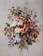 Pierre-Auguste Renoir paintings artwork A Bouquet of Roses 1879