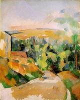 Paul Cezanne paintings artwork, A Bend in the Road 1900 1906