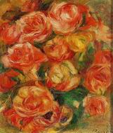 Reproduction of Pierre-Auguste Renoir artwork A Bowlful of Roses