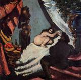 Paul Cezanne paintings, A Modern Olympia (Pasha) 1869 1870