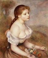 Renoir paintings A Walk in the Woods aka Madame Lecoeur and Her