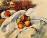 Paul Cezanne paintings artwork, Apples on a Sheet 1886 1890