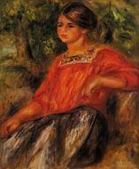 Pierre-Auguste Renoir Gabrielle in the Garden at Cagnes 1911