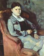 Paul Cezanne paintings artwork Artist's Wife in an Armchair
