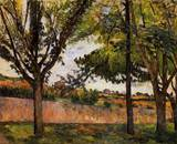 Paul Cezanne paintings artwork, At Jas de Bouffan 1882 1885