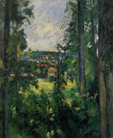 Paul Cezanne art Auvers sur Oise View from Nearby 1876 1877