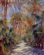 Pierre-Auguste Renoir painting Algiers the Garden of Essai 1881