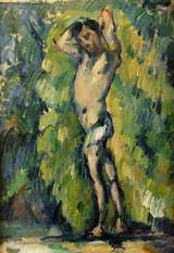 Paul Cezanne paintings artwork,Reproduction of Bather 1875 1877