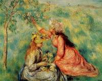 Reproduction of Pierre-Auguste Renoir art Aline Charigot 1885