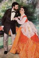 Pierre-Auguste Renoir paintings Alfred Sisley with His Wife 1868