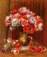 Reproduction of Pierre-Auguste Renoir paintings Anemones 1909