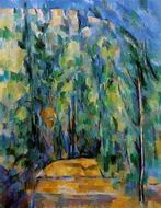 Paul Cezanne paintings, Reproduction of Bend in Forest Road