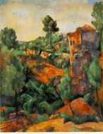 Paul Cezanne paintings artwork, Bibemus Quarry 1898