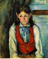 Paul Cezanne paintings artwork, Boy in a Red Vest 1888 1890 3