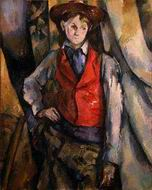 Paul Cezanne paintings artwork, Boy in a Red Vest 1888 1890