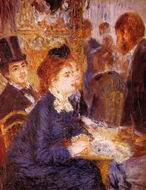 Pierre-Auguste Renoir paintings artwork At the Cafe 1876-1877
