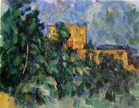 Paul Cezanne paintings artwork, Chateau Noir 1904 1906