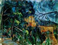 Paul Cezanne paintings, Reproduction of Chateau Noir 1904