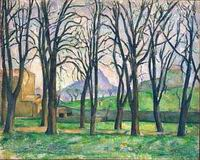 Paul Cezanne Chestnut Trees at the Jas de Bouffan 1885 1886