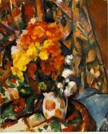 Paul Cezanne paintings artwork, Chrysanthemums 1896 1898