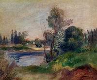 Pierre-Auguste Renoir paintings art Banks of the River 1874-1876