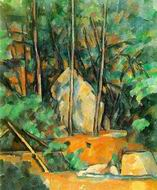 Paul Cezanne paintings, Cistern in the Park at Chateau Noir 1900