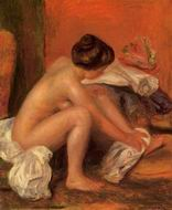 Reproduction of Pierre-Auguste Renoir paintings art Bather 1905